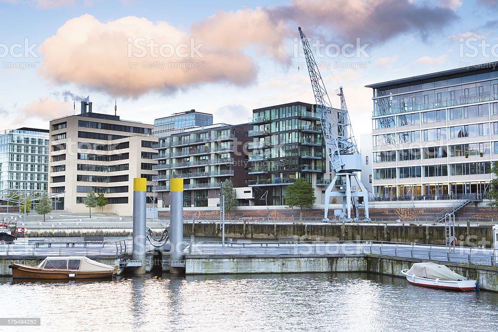 Modern living in the HafenCity Hamburg stock photo