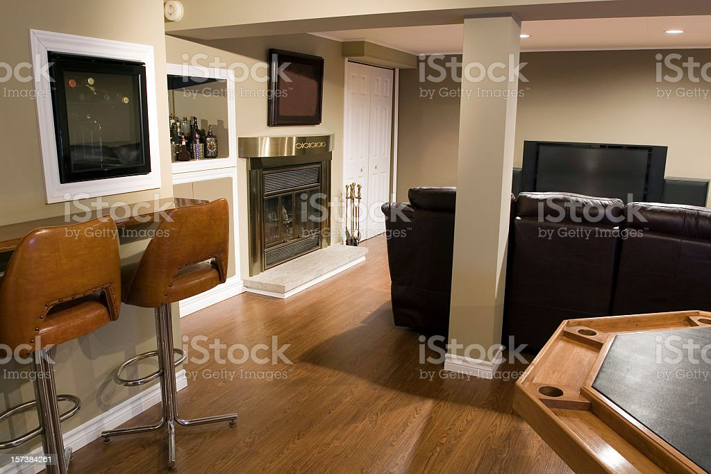 Modern Living Room and Home Cinema royalty-free stock photo