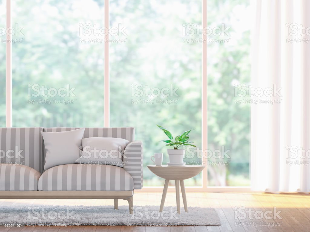 Modern living room close up  3d rendering image stock photo