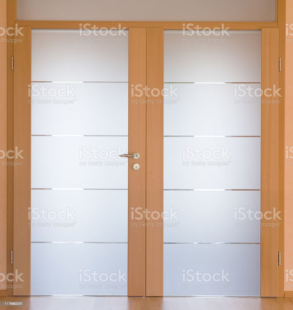 modern living room door stock photo