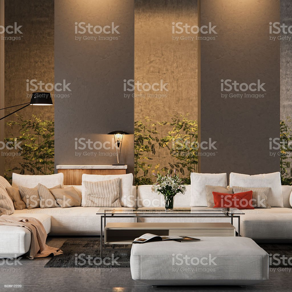Modern Living Room Interior design stock photo