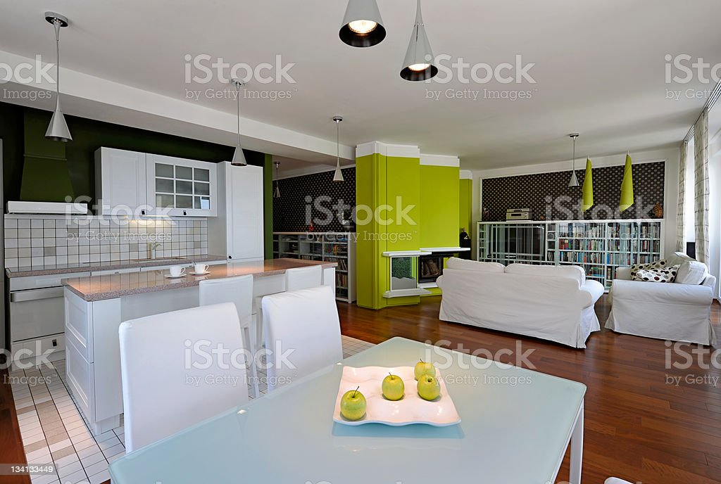 Modern living room interior royalty-free stock photo