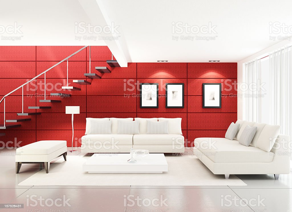 Modern Living Room royalty-free stock photo