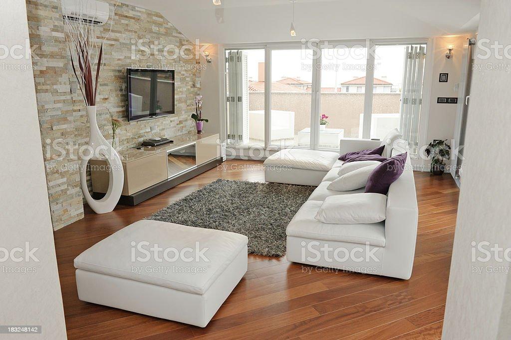 Modern living room royalty-free stock photo