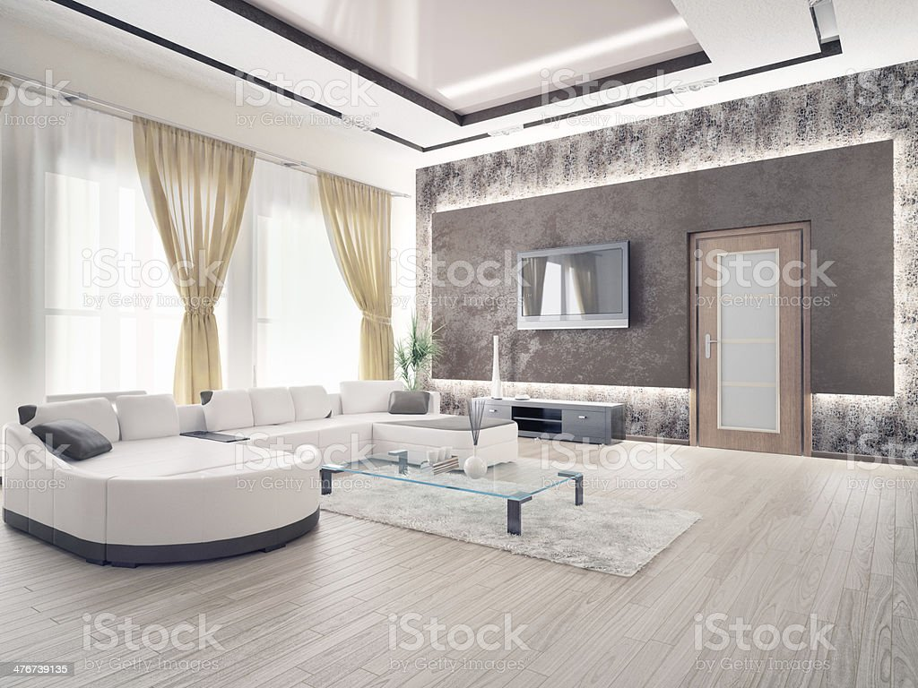 ... Laminate Wood Flooring Stock Photo · Home Interior Stock Photo · Modern Living  Room Stock Photo ...