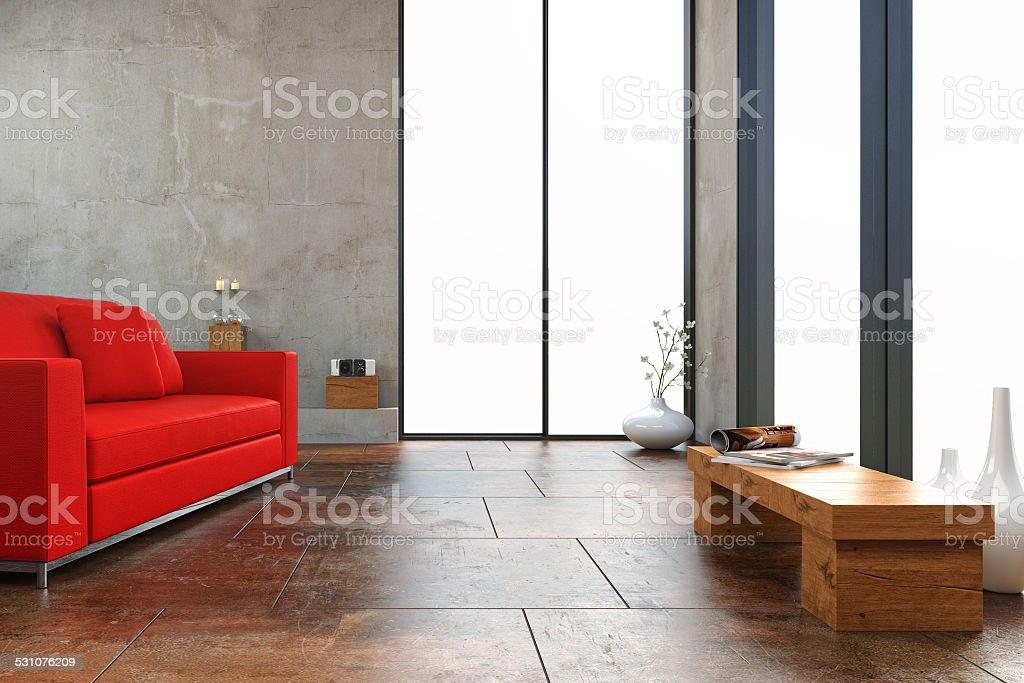 Modern living room - Stock Image stock photo