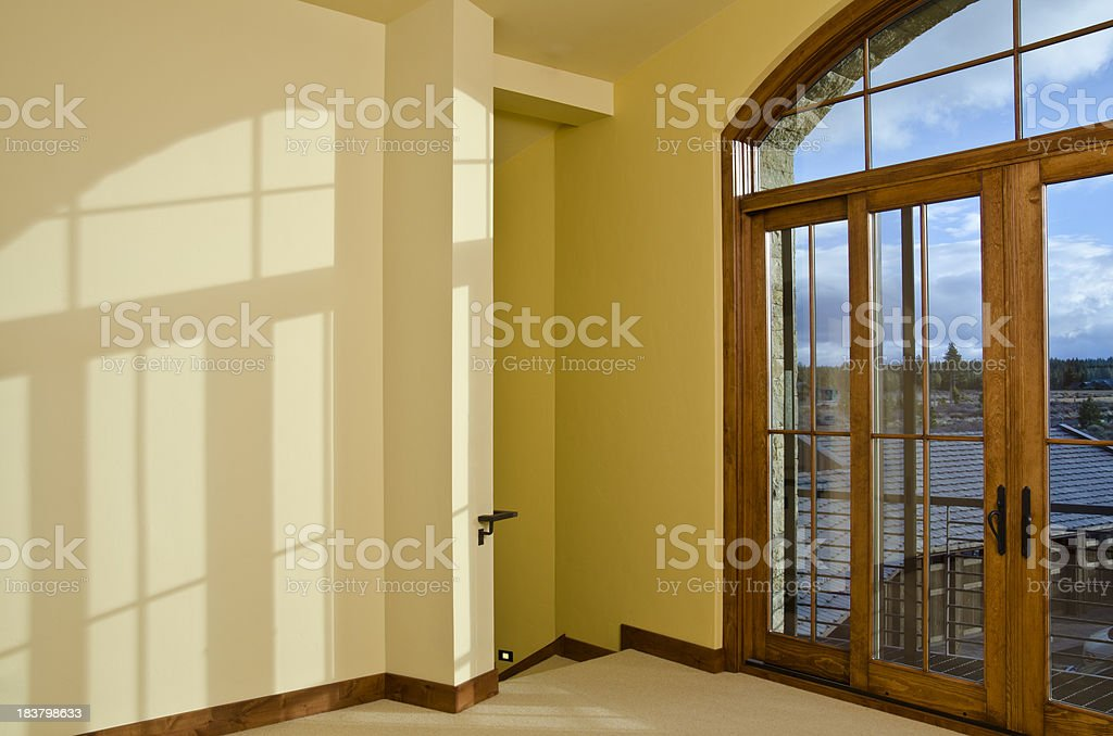 Modern living room that is empty stock photo