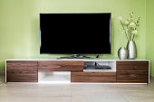 modern living room with 55'' TV screen