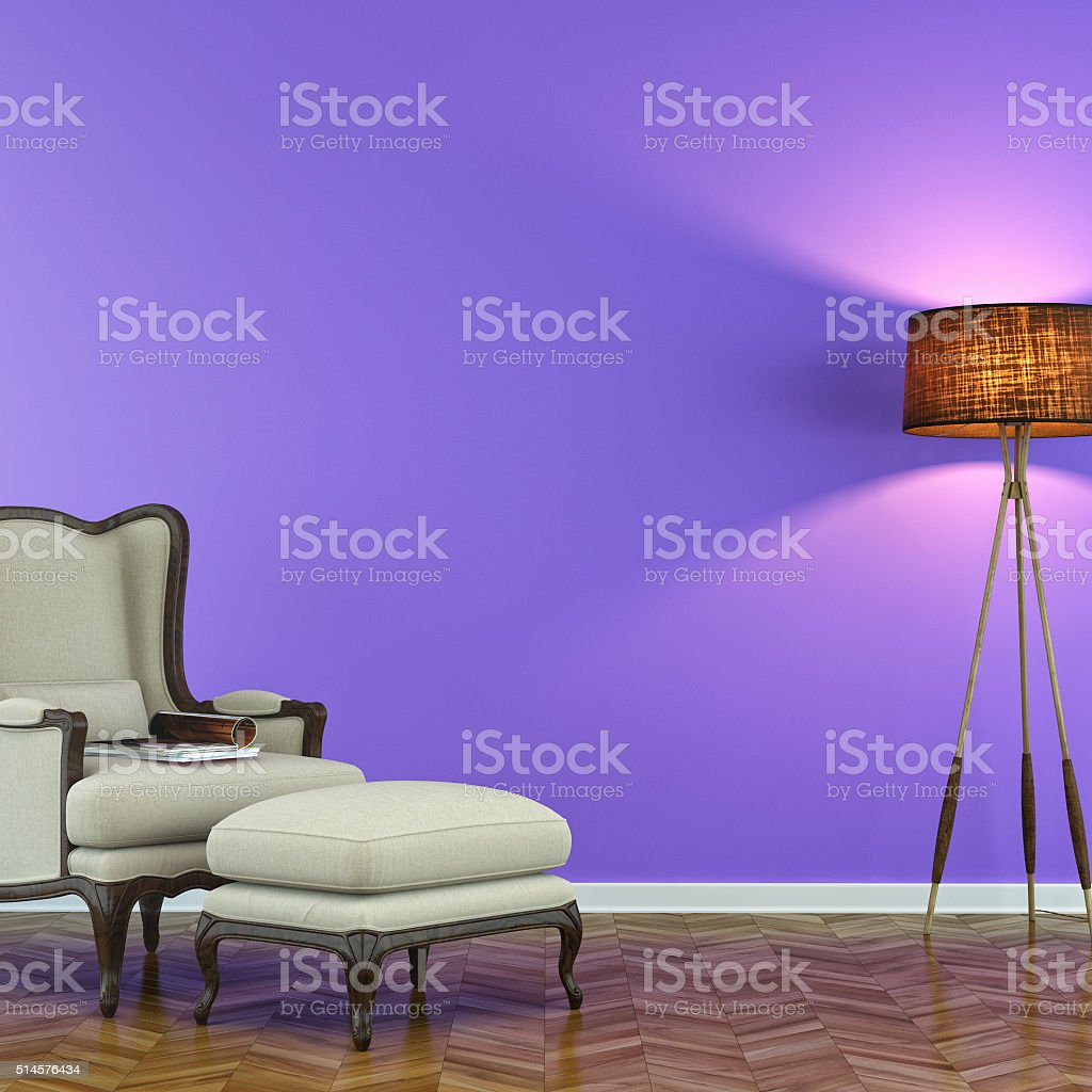 Modern living room with chair stock photo