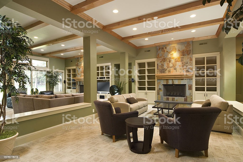 Modern living room with furnishing royalty-free stock photo