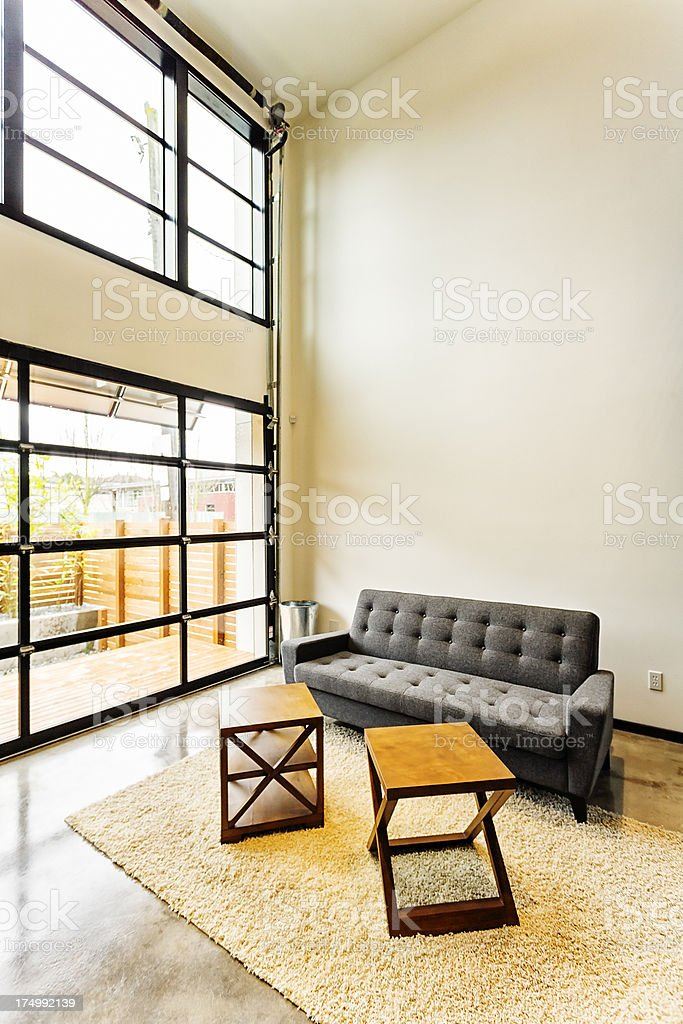 Modern Living Space royalty-free stock photo