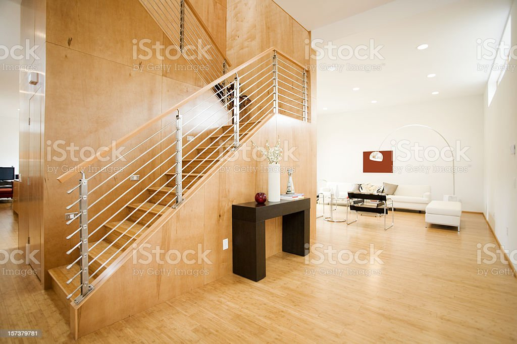 Modern Living Space with Natural Light royalty-free stock photo