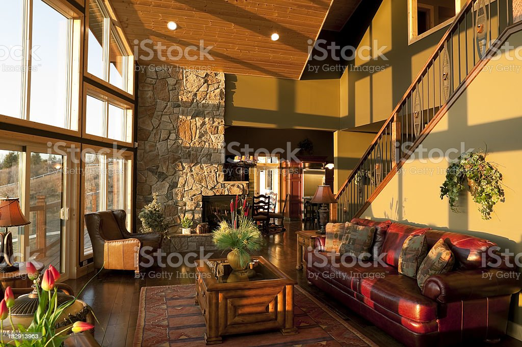 modern livingroom cottage royalty-free stock photo