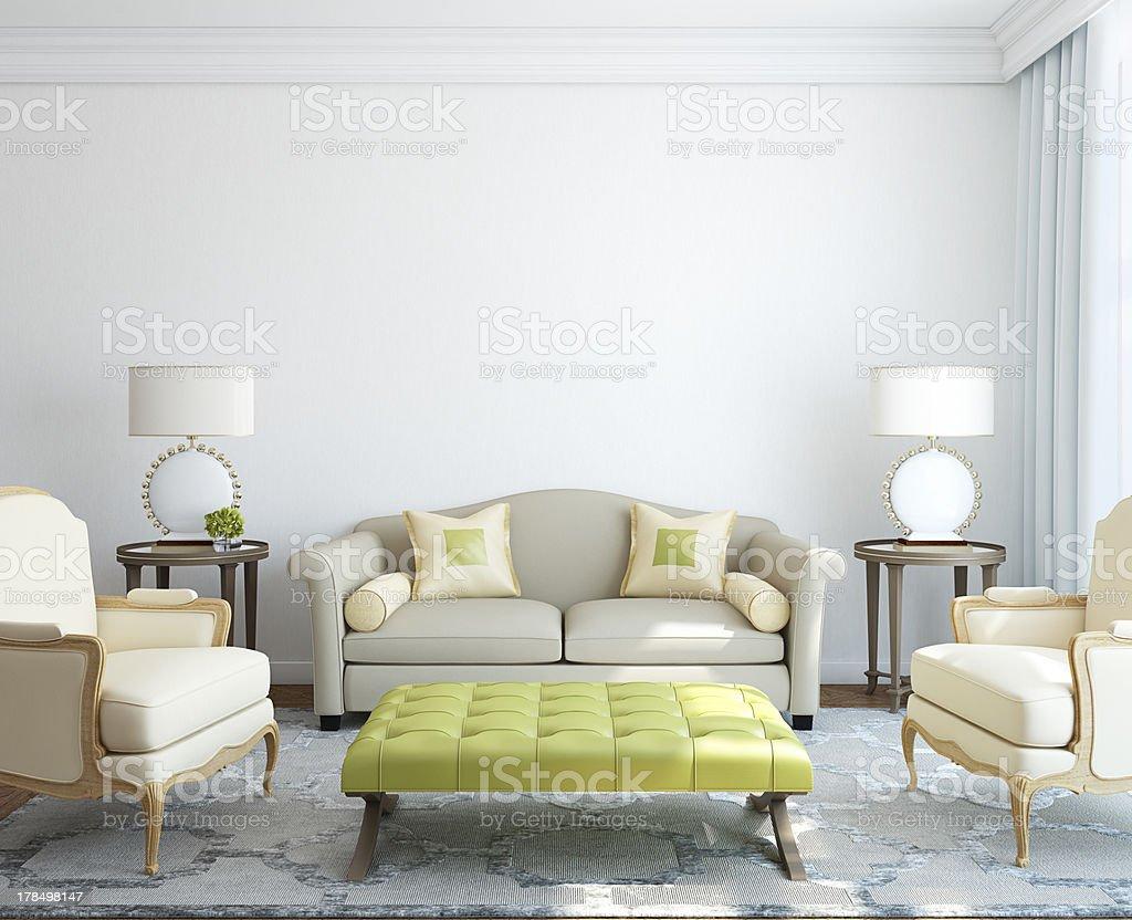 Modern living-room interior. stock photo