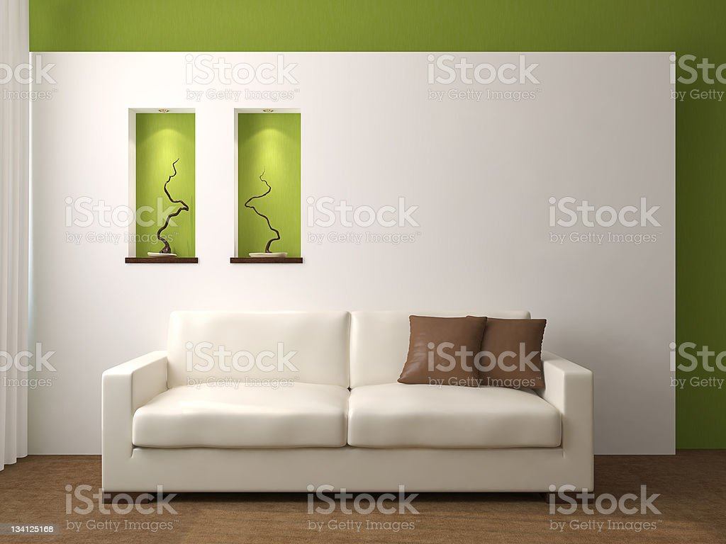 Modern living-room. royalty-free stock photo