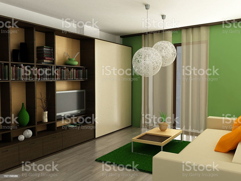 modern living-room royalty-free stock photo