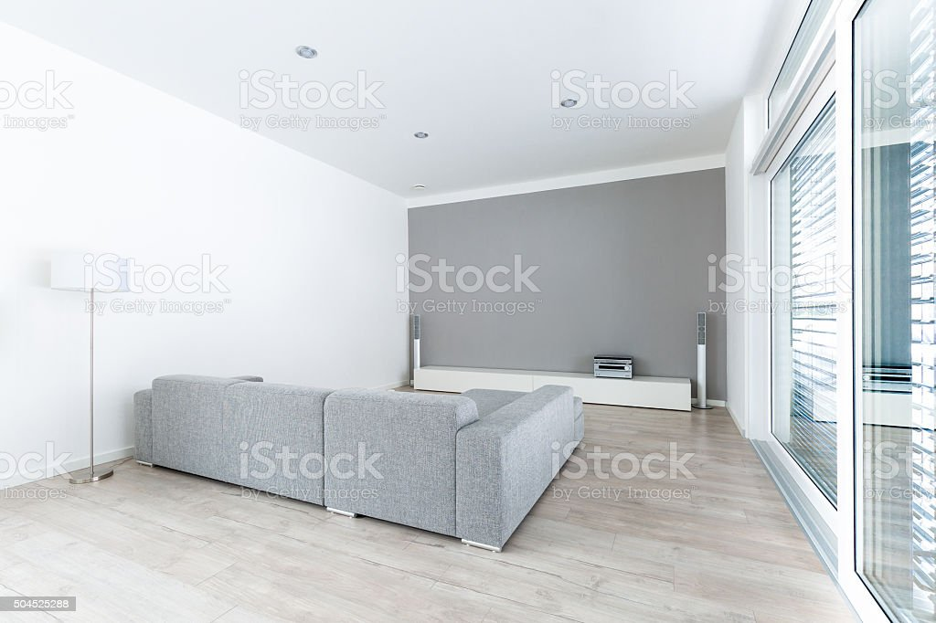 Modern living-room stock photo