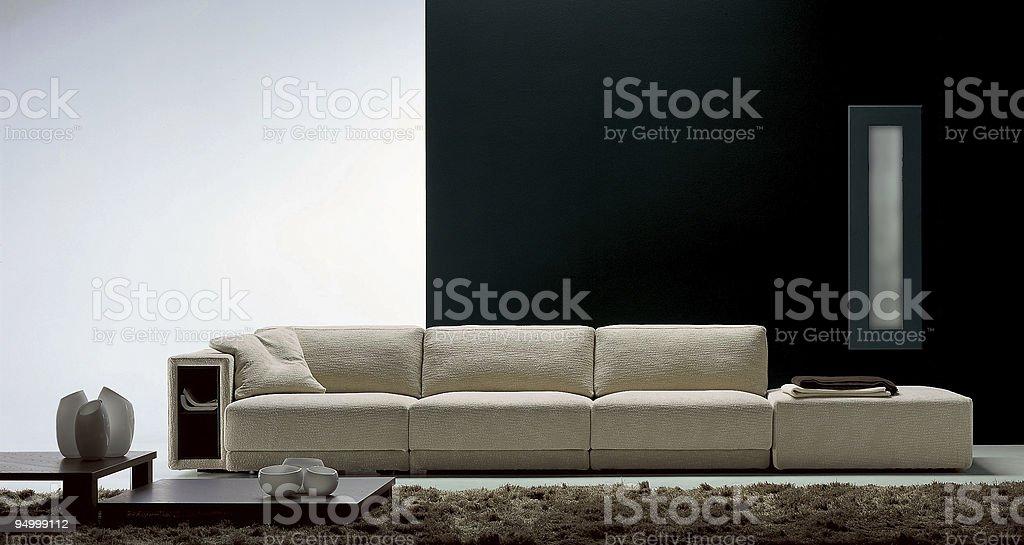 Modern livingroom   Sofa royalty-free stock photo