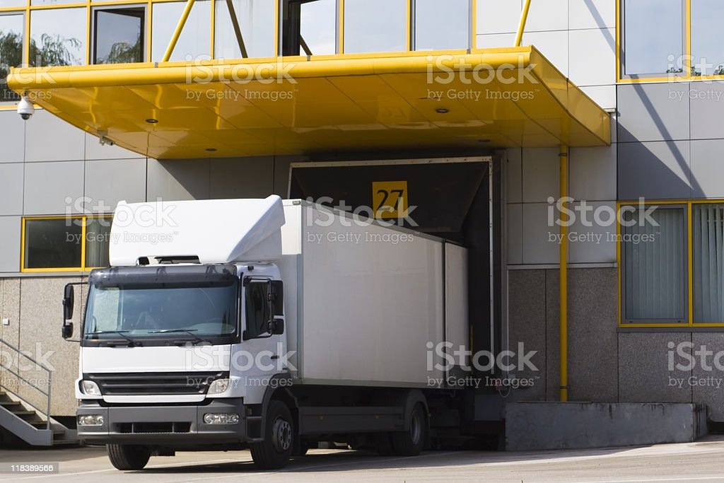 modern loading dock royalty-free stock photo