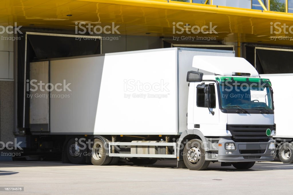 modern loading dock stock photo