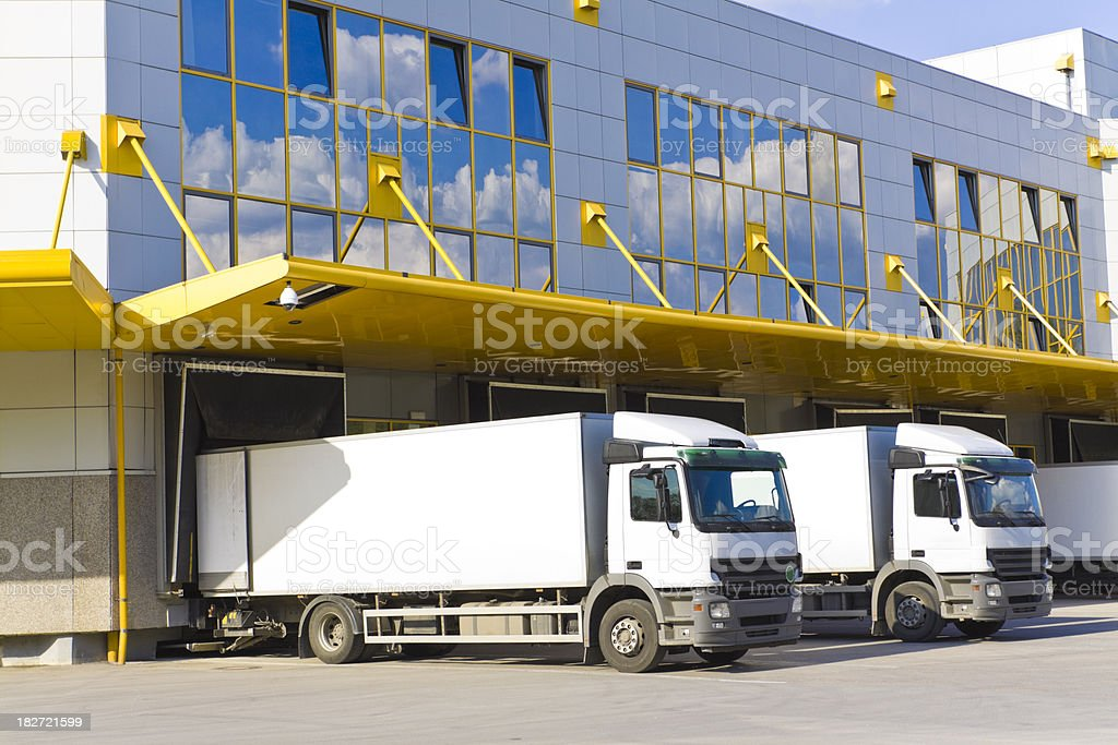 modern loading docks stock photo