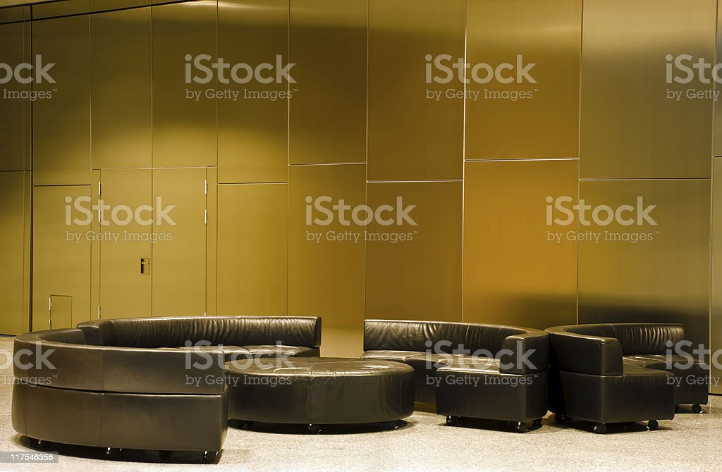 Modern lobby area royalty-free stock photo