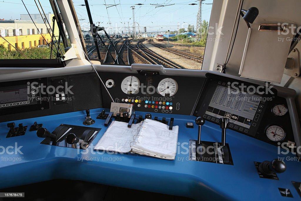 Modern Locomotive Interior stock photo