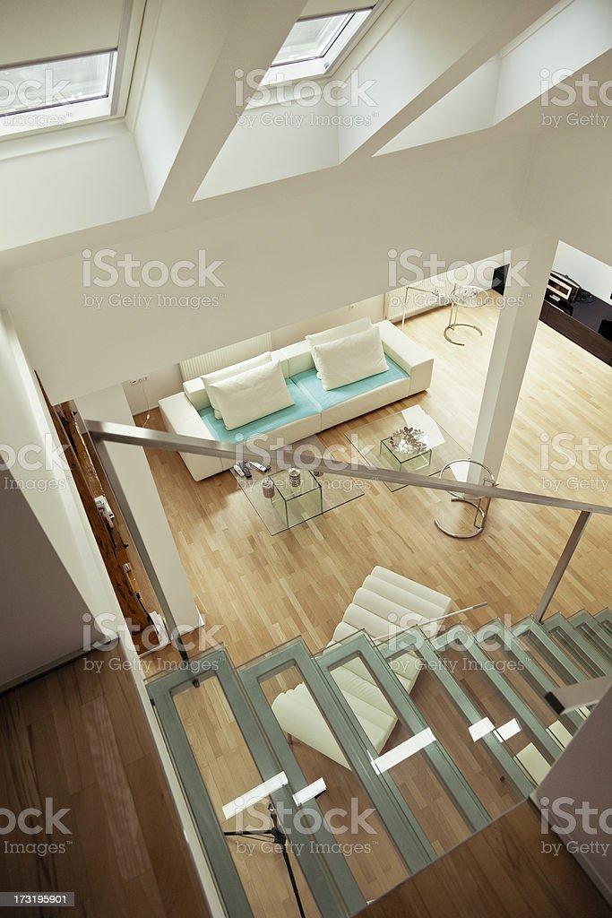 Modern loft apartment royalty-free stock photo