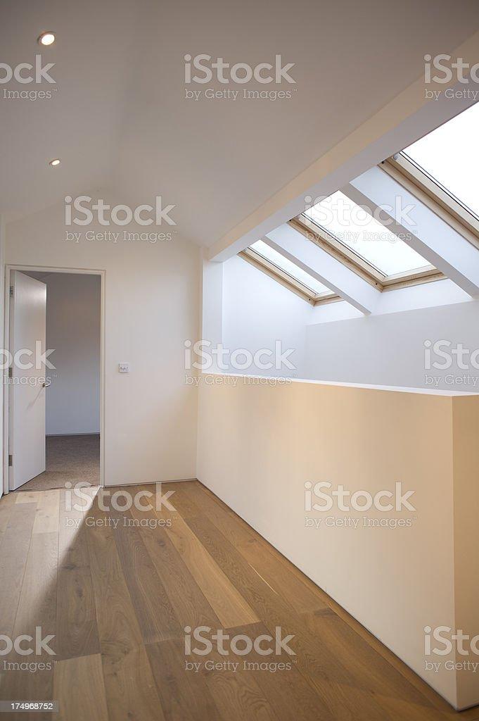 modern loft conversion stock photo