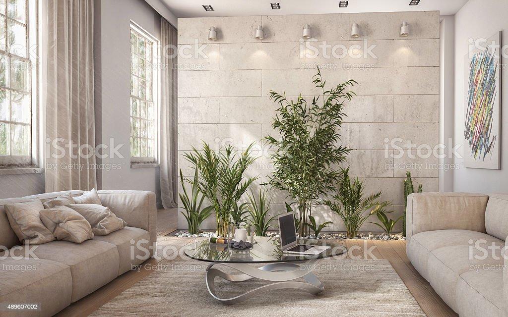 Modern Loft Interiors stock photo