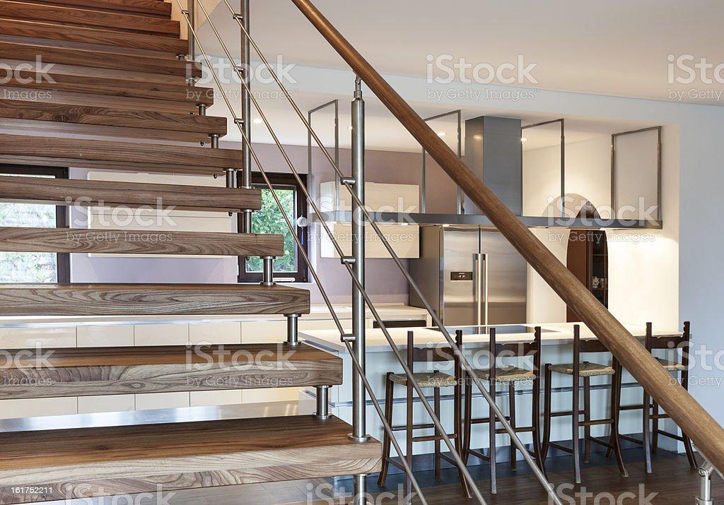 modern loft, staircase view royalty-free stock photo