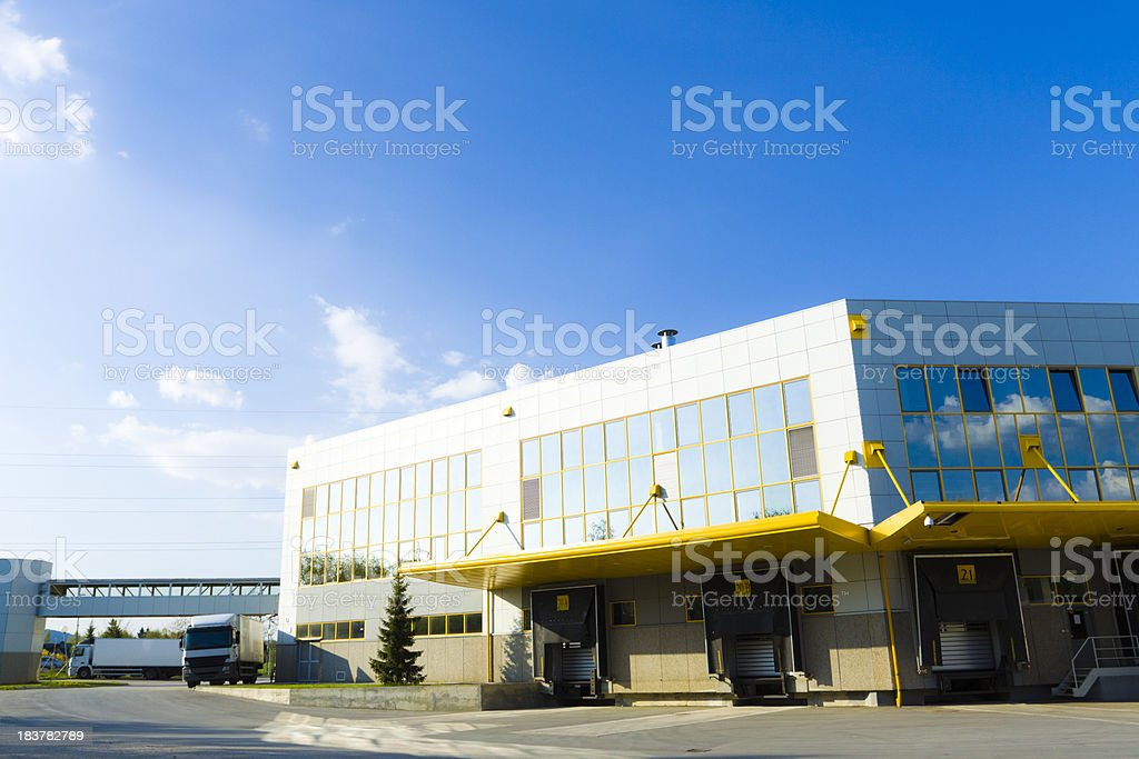 modern logistic center stock photo