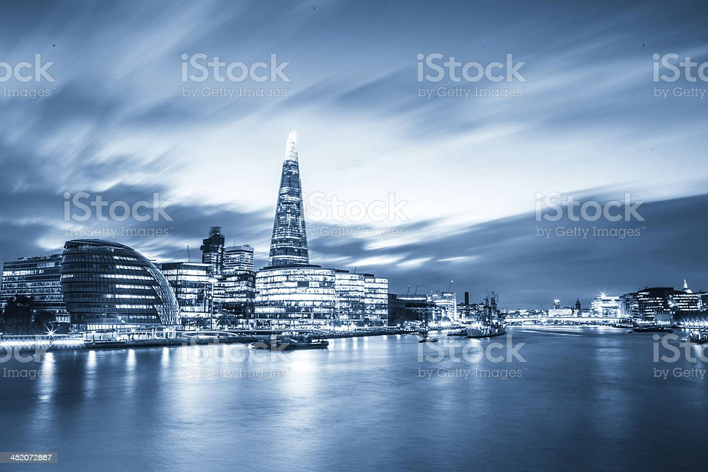 Modern London cityscape royalty-free stock photo
