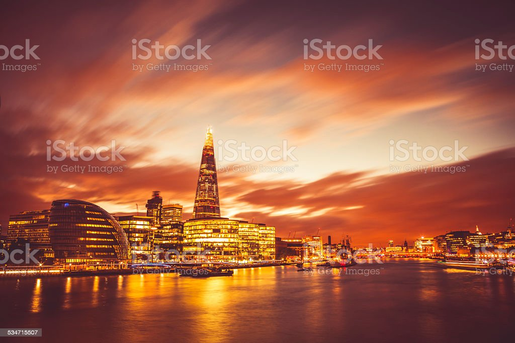 Modern London stock photo