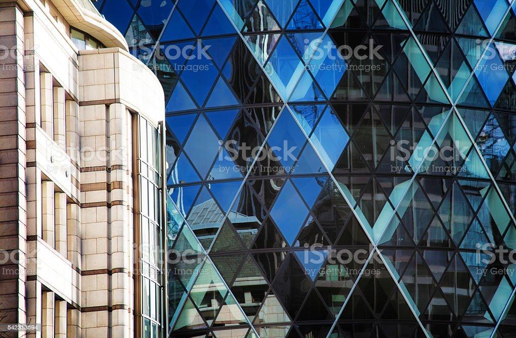 Modern London UK architectural background stock photo