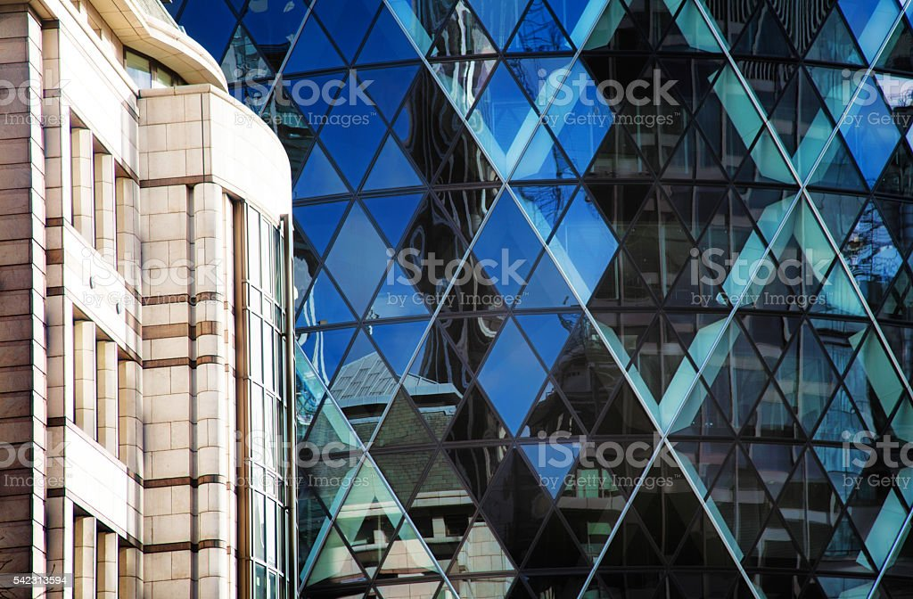 Modern London UK architectural background stock photo