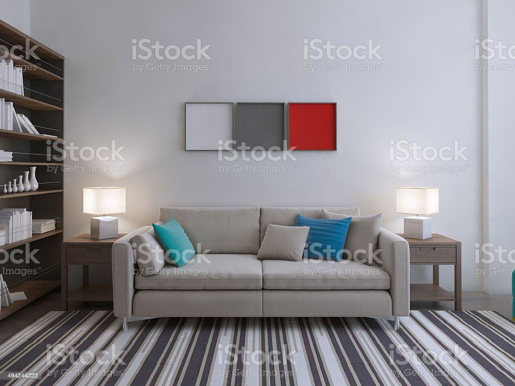 Modern lounge room idea stock photo