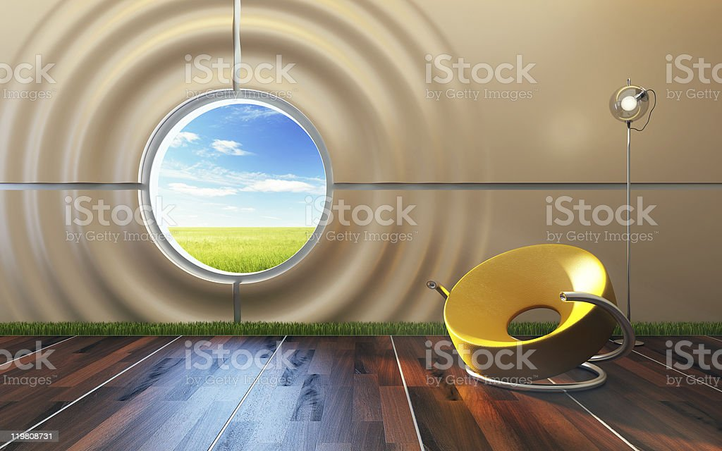 modern lounge room interior royalty-free stock photo