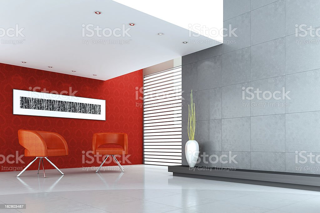 Modern Lounge Room royalty-free stock photo