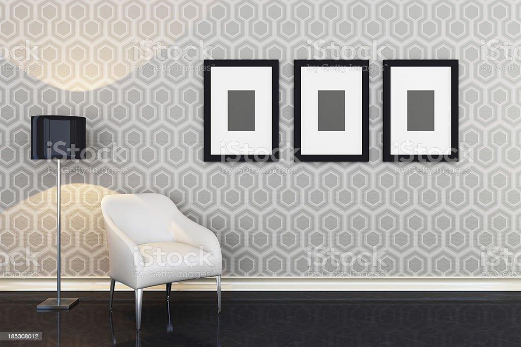 Modern Lounge Room stock photo