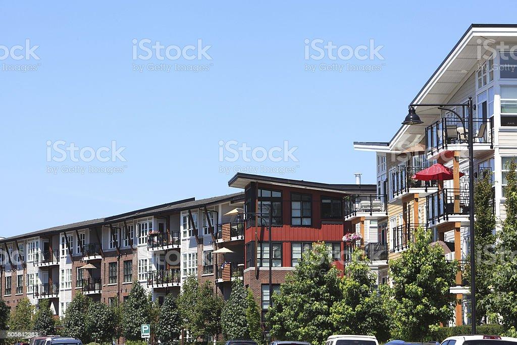 Modern Low Rise Condo Living stock photo