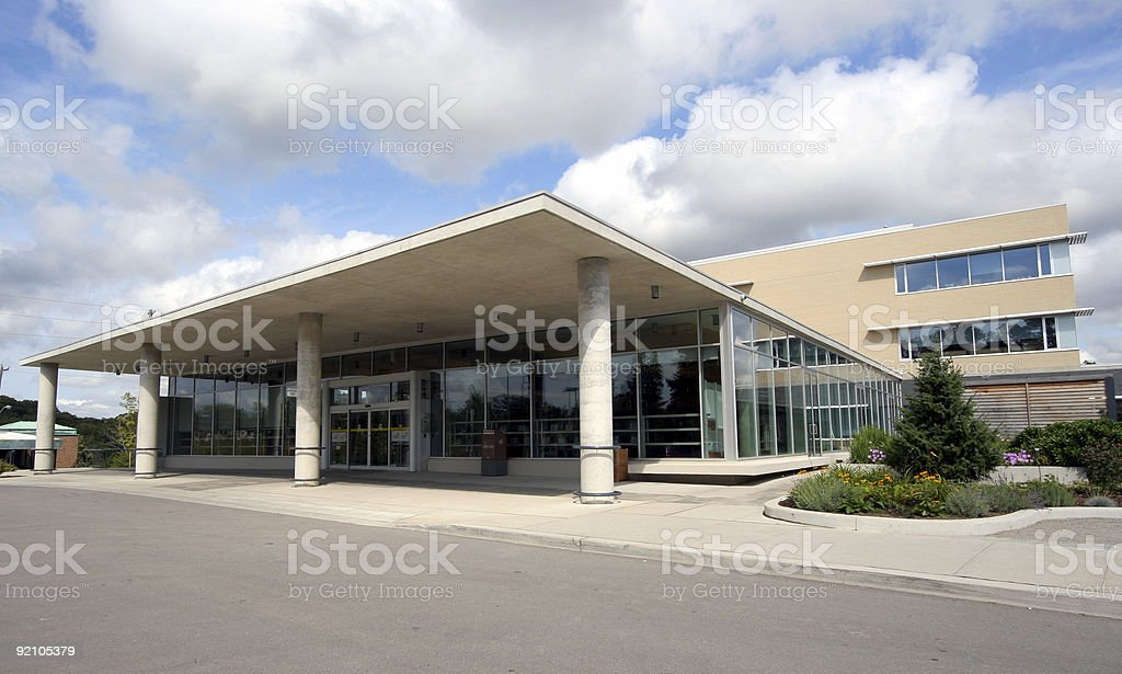 Modern low-rise office building stock photo