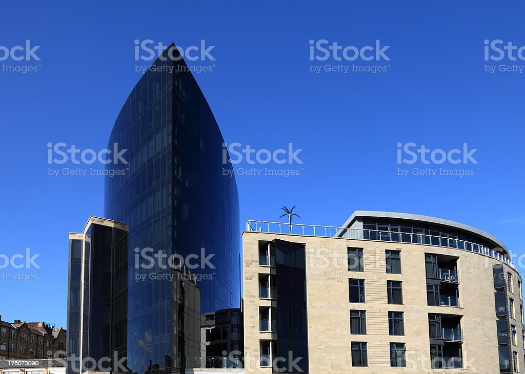 Modern luxury apartments and offices stock photo