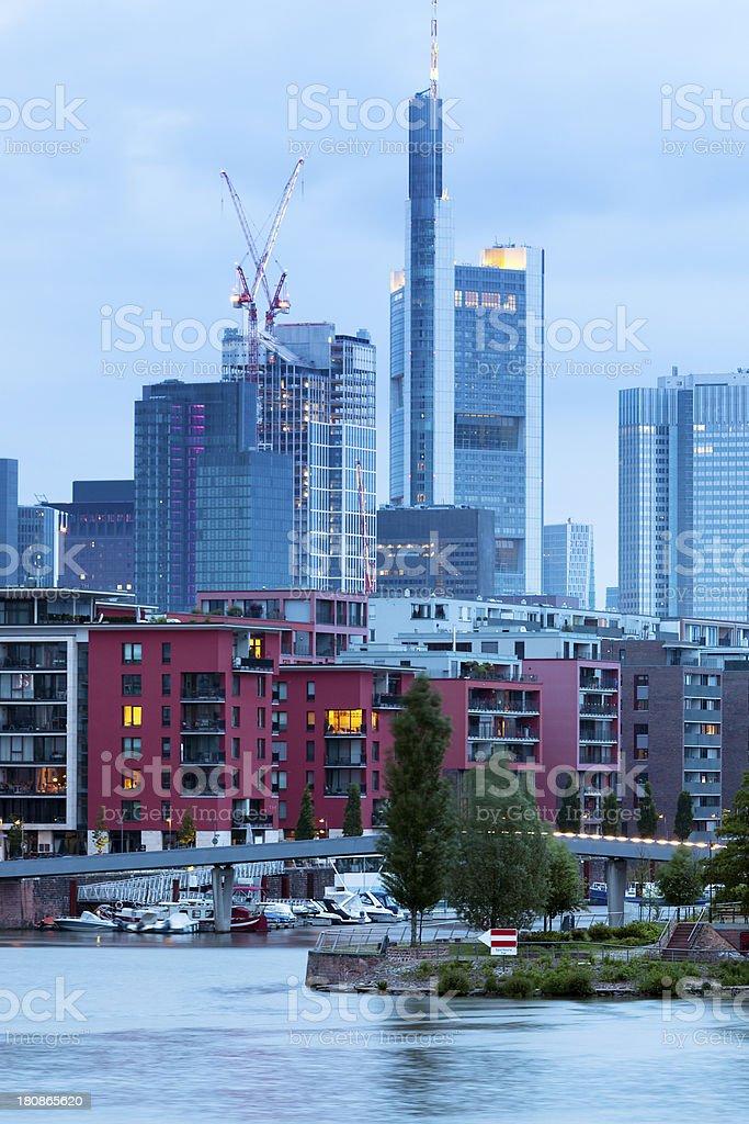Modern Luxury Apartments in Westhafen Harbor, Frankfurt, Germany stock photo