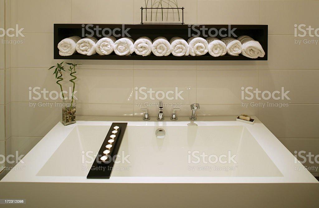 modern luxury bathroom bathtub white stock photo
