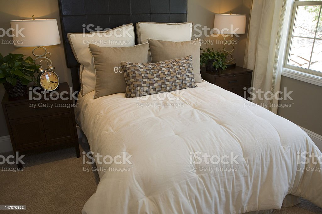 Modern luxury home bedroom. royalty-free stock photo