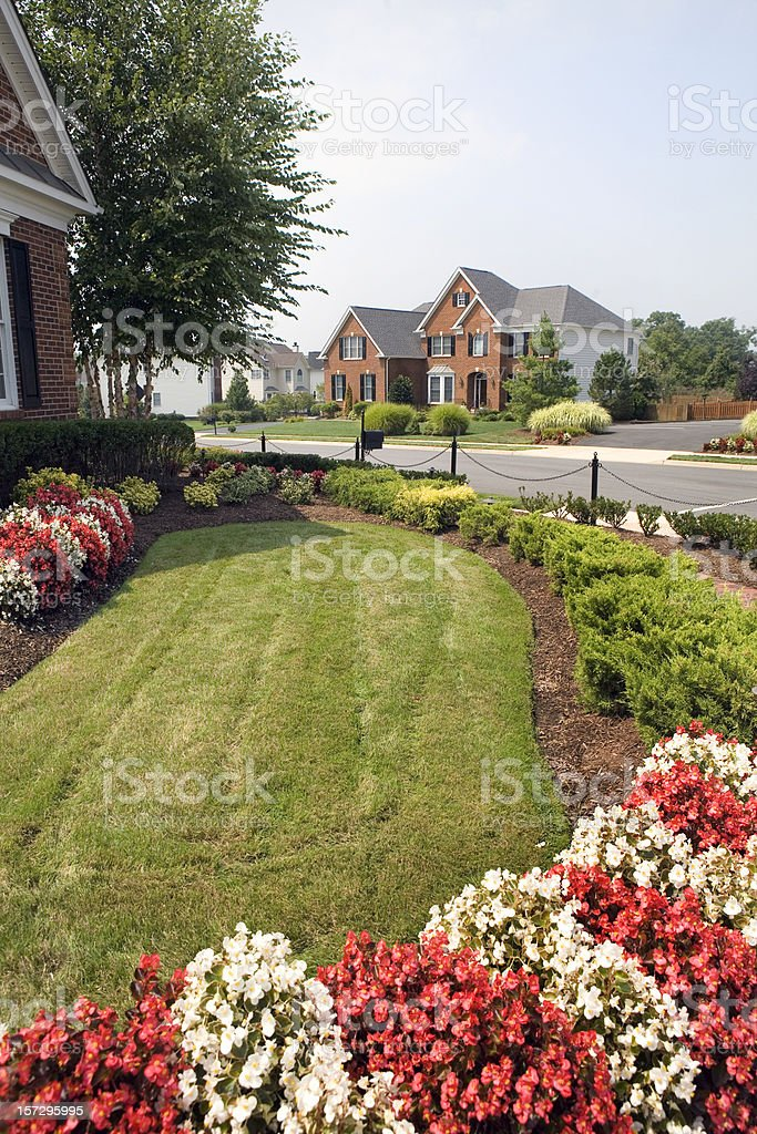 Modern Luxury Home Suburbia royalty-free stock photo