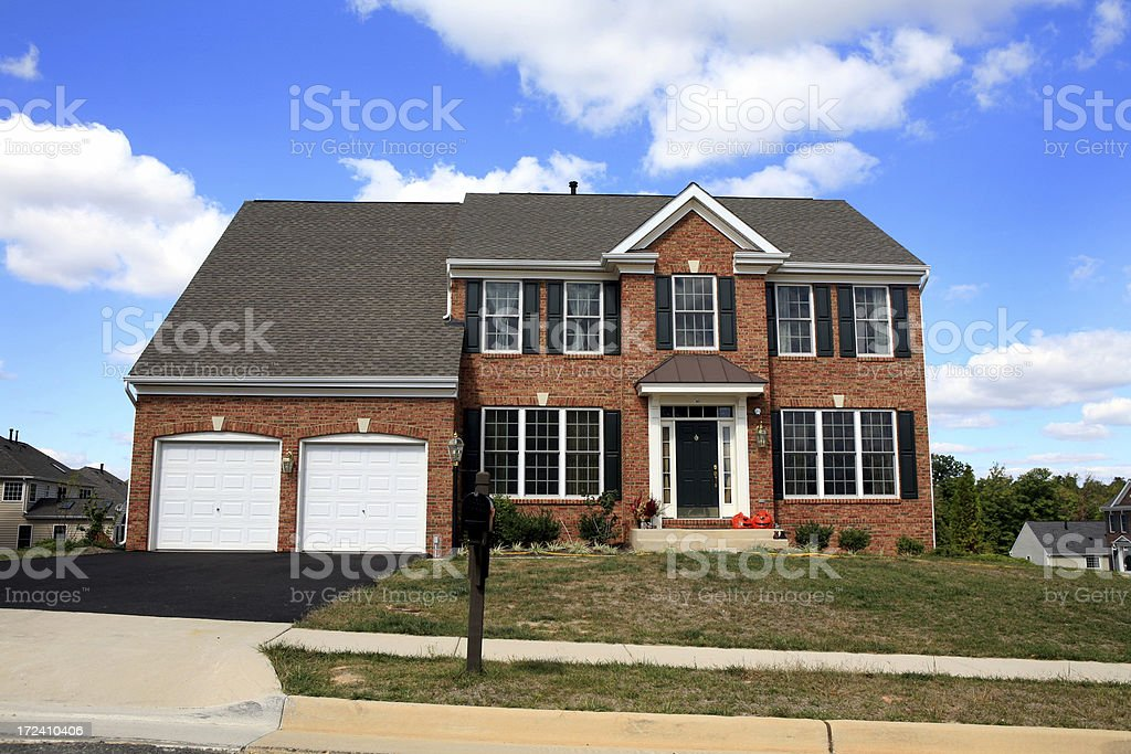 Modern Luxury Home Suburbia stock photo