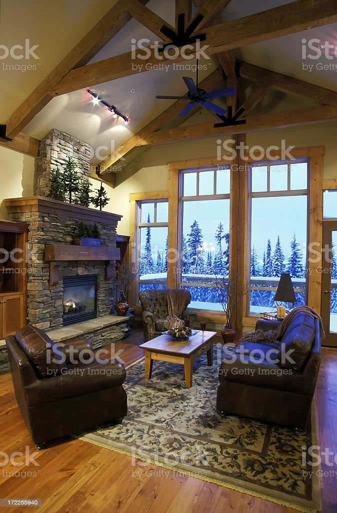 modern luxury house living room interior royalty-free stock photo