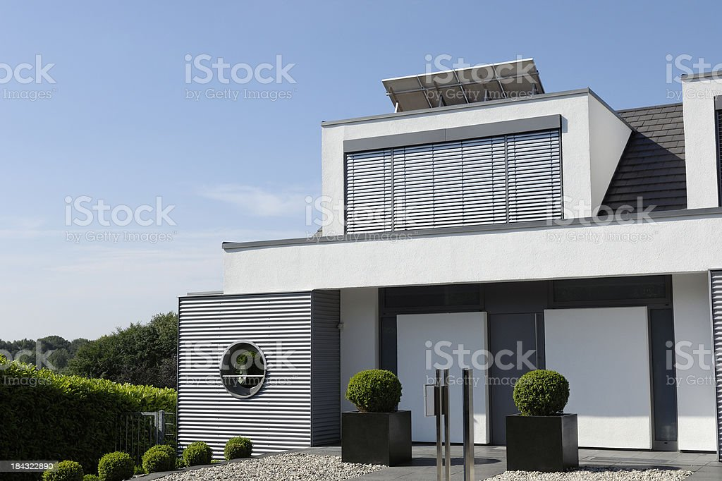 Modern luxury one family house stock photo